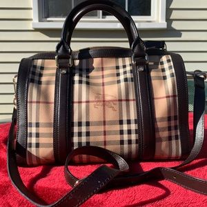 Burberry top handle bag